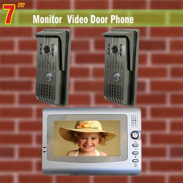 7 LCD Monitor  2 to 1 video door Phone DoorBell video intercom door camera Support Night vision<br><br>Aliexpress