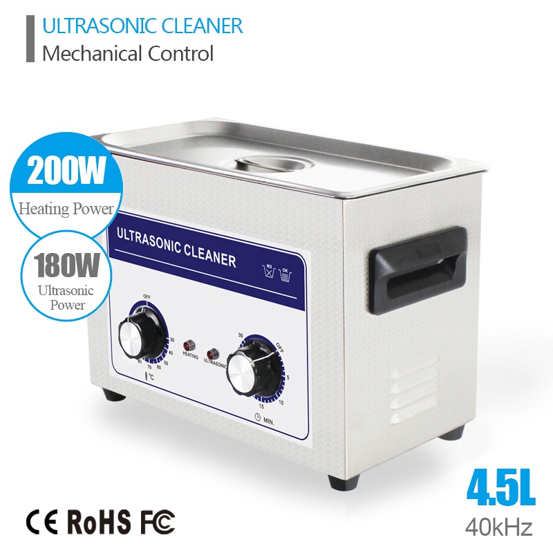 Ultrasound Injector Cleaning Transducer Machine Generator Ultrasonic Washer 180W 40kHz 4.5L Industry Ultrasonic Cleaner Bath(China (Mainland))