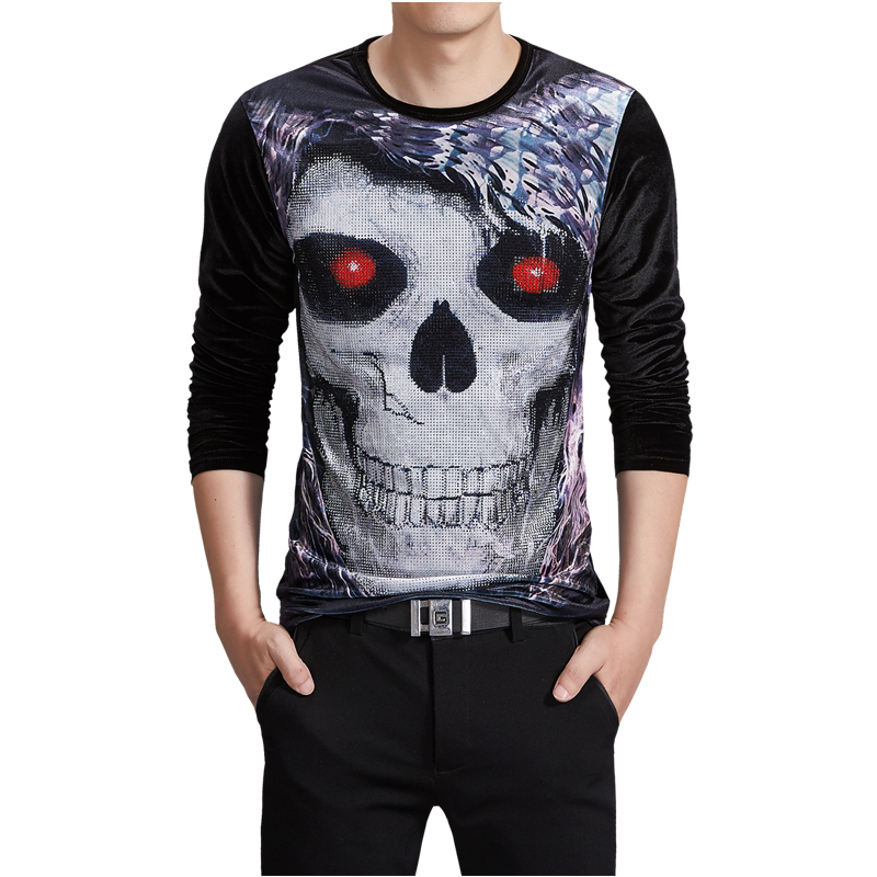 Buy luxury pleuche t shirt for men long for Thick long sleeve shirts