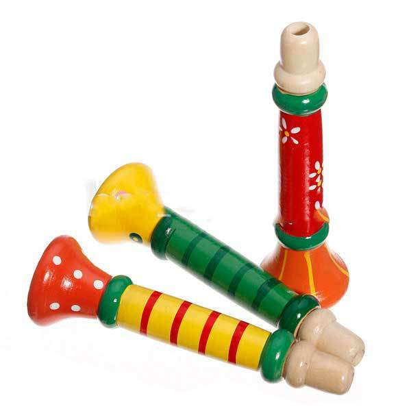 GlenBrook Baby Musical Wooden Trumpet Child Instruments Toy(China (Mainland))