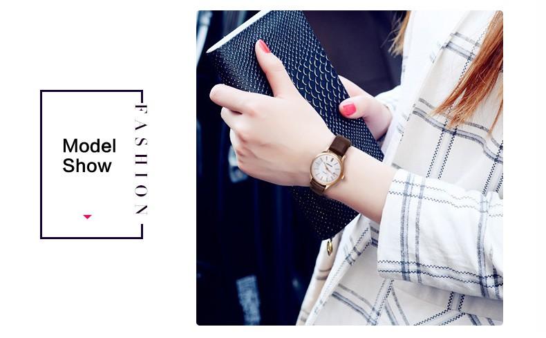 Женская одежда Кварцевые Часы Женщины Сапфир зеркало Кожа Вскользь Платья женские Часы Розовое Золото mujer reloje 2016 montre femme