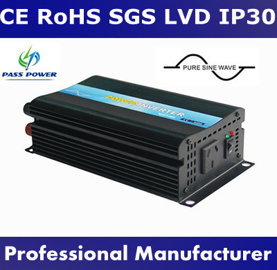 Pure Sine Wave DC to AC Power Inverter with 5A Charger 600W 12V 24V