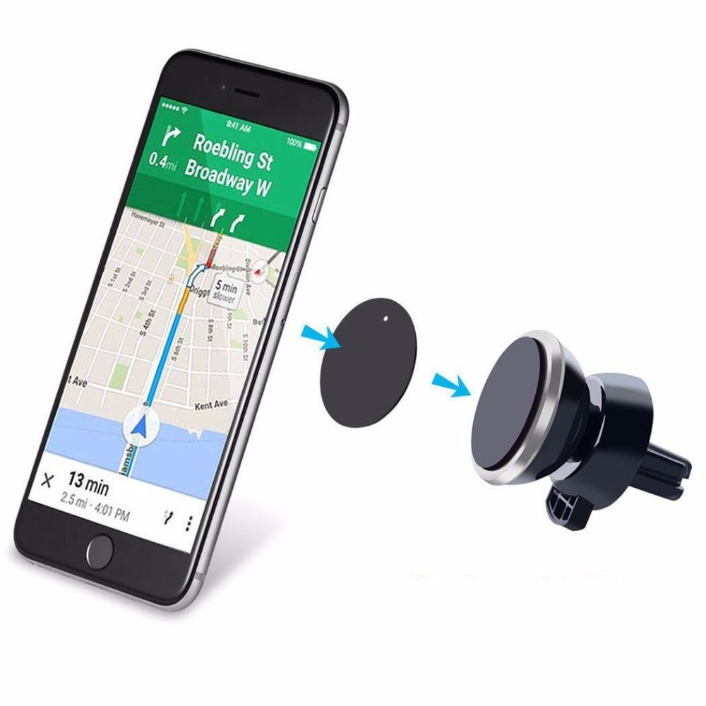 Universal 360 Rotating Magnetic Car Air Vent Mount Mobile Phone Holder Stand for iPhone 6S 6 Plus For Samsung S7 S6 Note 5 4(China (Mainland))