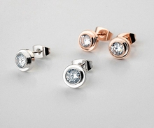 Real Italina Stud Earrings for women  Austrian Crystal 18K Gold Plated   New Sale Hot Brand # RG881142White(China (Mainland))