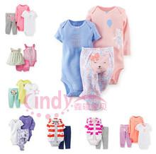 20 Models Carters Baby Girls Set Autumn Cotton Short Long Sleeve Bodysuits Pant 3 piece Clothing