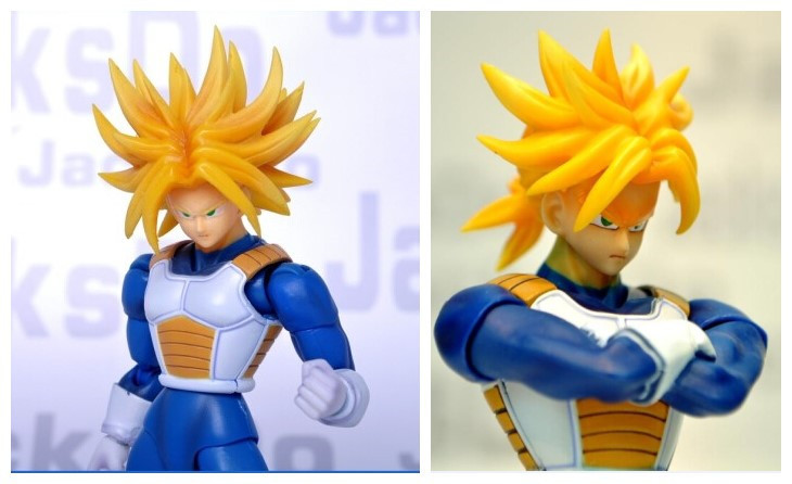New Version Dragon Ball Z Super Saiya Trunks Head and Crossed Arms can be connected to Vegeta Body ,Action Figures accessory(China (Mainland))
