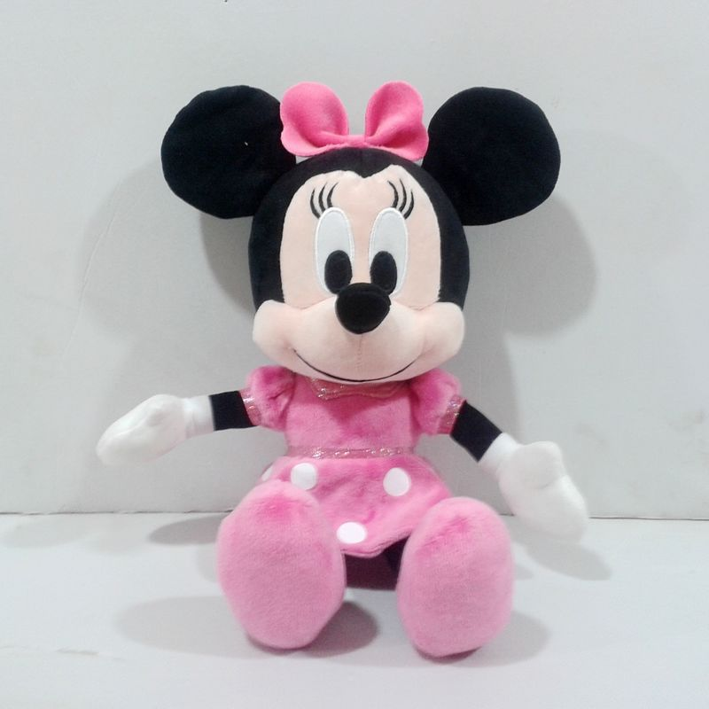 Free shipping 1pcs 30cm Minnie mouse plush soft dolls,minnie mouse stuffed doll pink color,new gift for kids(China (Mainland))