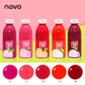 NOVO Brand 5Colors Fruit Stained Lip Gloss Waterproof Long Lasting Non Stick Cup Makeup Liquid Lipstick