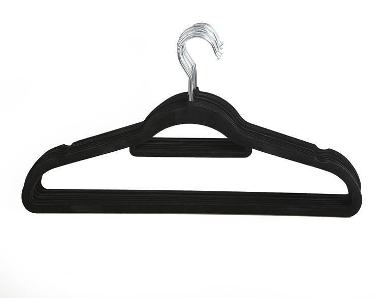 Metal Suit Hangers Velvet Flocked Suit Hanger