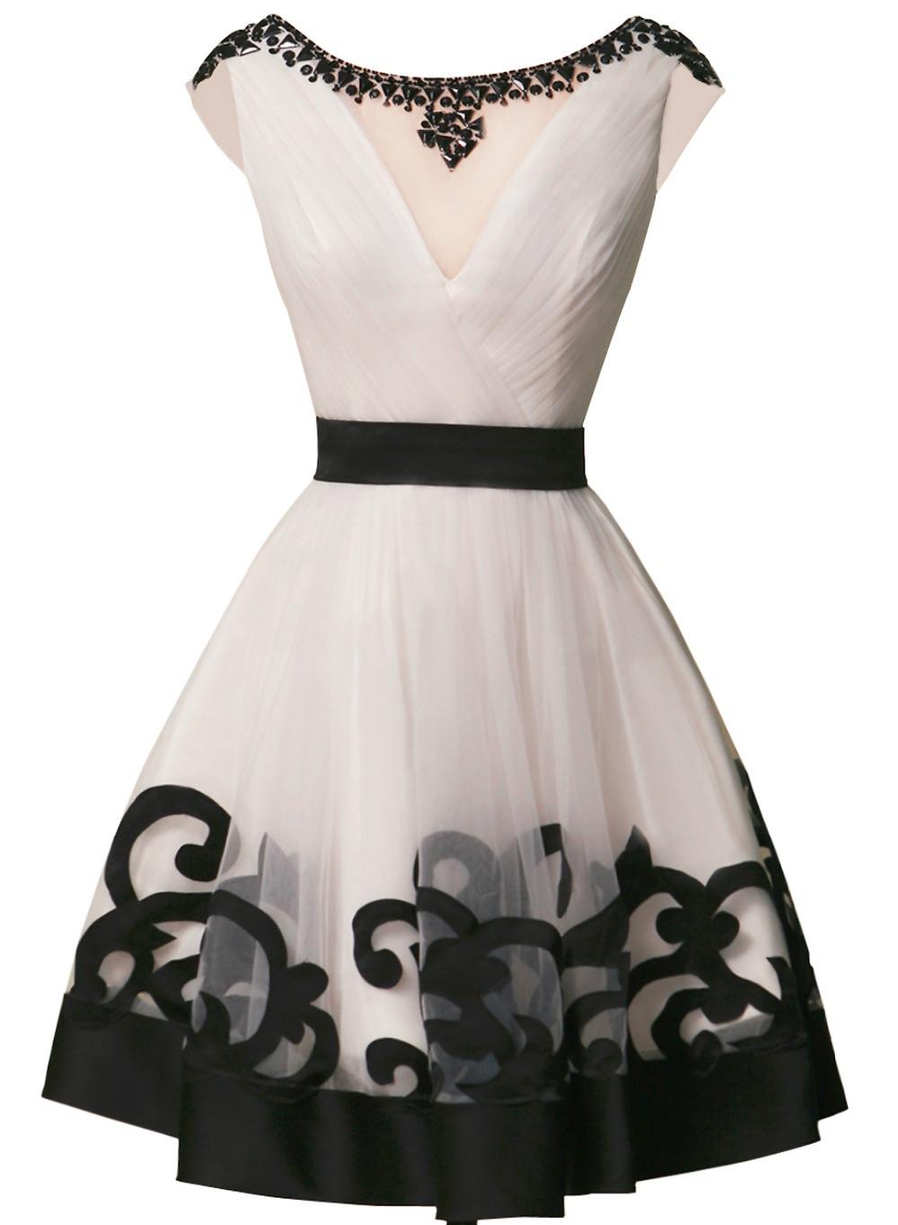 V Back Homecoming Dress 82