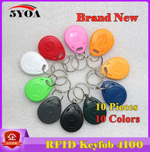 10Pcs RFID Tag Key Fob Keyfobs Keychain Ring Token 125Khz Proximity ID Card Chip EM 4100/4102 for Access Control Attendance(China (Mainland))