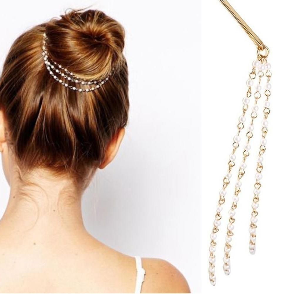 1 pcs Hot sale Dish Tassels Beauty Accessories Moon Headwear Style New Shining Cute Hair Clip Hairpin(China (Mainland))