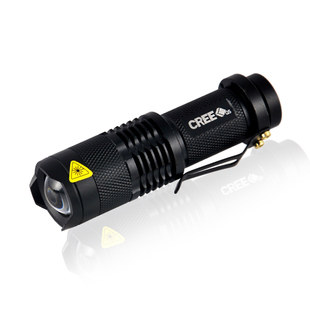Domestic lighting Authentic original outdoor 300 lumens United States CREE Q5 zoom flashlight mini torch portable torch LED