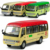 Bus bus alloy WARRIOR alloy car models Large bus TOYOTA coaster bus