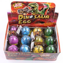 Large Size 12pcs/set Water Hatching Inflation Dinosaur Egg Novelty Toys Cracks Grow Egg Educational Toys For Baby Boy -50(China (Mainland))