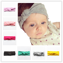 18cm*8cm High elastic 2016 bohemia baby hat cotton baby hats for girls solid color/printed cross headband baby hats&caps(China (Mainland))