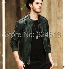 Male Korean cultivating a short paragraph PU leather thin jacket male spring coat(China (Mainland))