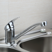 Buy OUBONI Modern Small Faucet Kitchen Sink Swivel Spout Mixer Tap Deck Mount Chrome Brass torneira Single Handle Hole Basin Faucet for $29.44 in AliExpress store