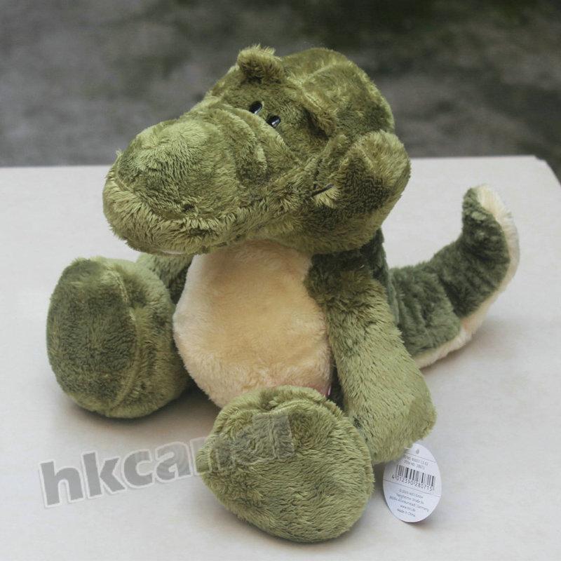 BG Lovely Green Alligator crocodile Stuffed Animals soft toys plush doll 35 CM n123(China (Mainland))