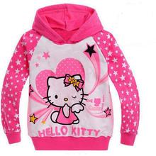 Novo 2016 Dos Desenhos Animados Crianças hoodies dos miúdos T-shirt das meninas dos meninos outerwear bebê primavera outono camisolas de manga Longa