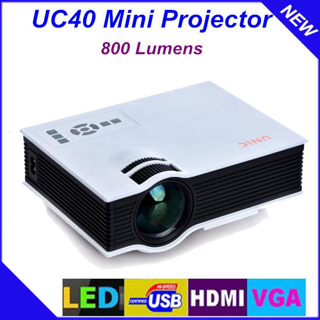 Newest Original UNIC UC40 Mini Pico Portable 3D Projector