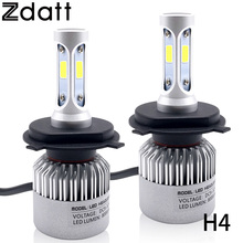 Buy 2Pcs Super Bright H4 Led Bulb 72W 8000LM Headlights Car LED Lights 6500K White 12V Hi Lo Beam Automobiles for $17.94 in AliExpress store