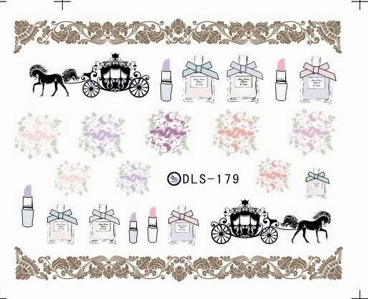 DIY Water Transfer Foils Nail Art Sticker Fashion Nails Vintage Makeup Tools Manicure Decals Minx Cute Nail Decorations(China (Mainland))