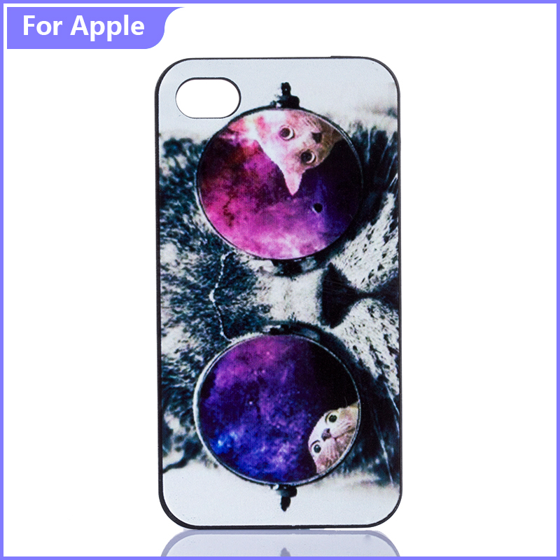 Phone Case iPhone 7 7Plus 5 5S SE 5C 6 6S Cute Funny Animal Cat Glasses Printed Hard Plastic Mobile Cover - FashionPhoneCase store