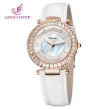 Brand KIMIO women watch fashion casual dress clock quartz watch crystal charm diamond watches women leather