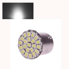 Hot Sale 2Pcs/lot 1156 1210 22 SMD LED BA15S Car Backup Fog Signal Tail Rear Light Pure White 12V # 49303(China (Mainland))