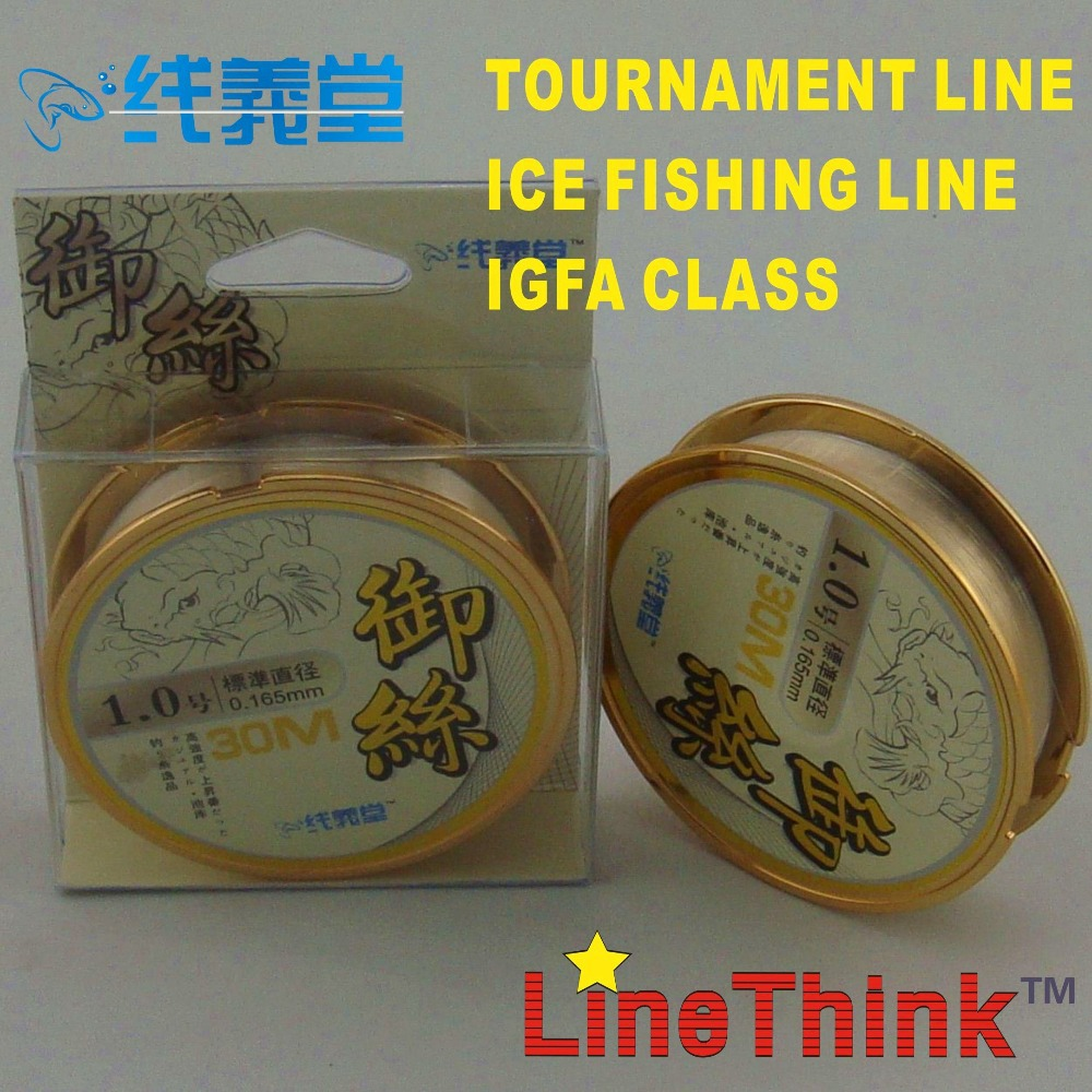 30m linethink tournament fishing line igfa ice fishing for Ice fishing line