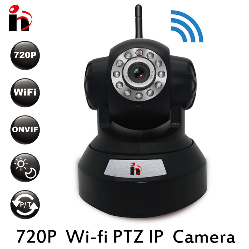 HY Free Ship P2P IP Camera 720P HD Wifi Wireless Baby Monitor PTZ Security Camera ONVIF Cloud Night Vision Micro SD Card Wi fi(China (Mainland))