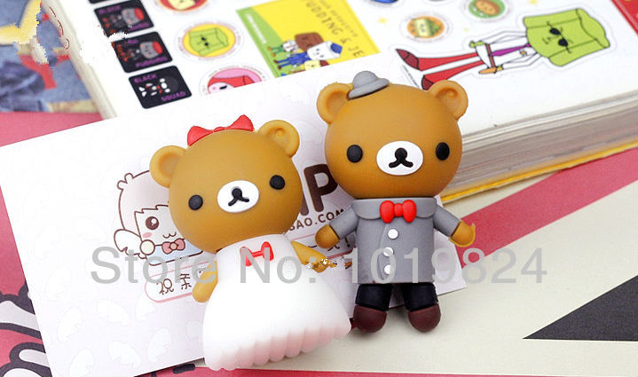 100% real capacity Wedding dress couple teddy bear USB Flash Pen Drive 4GB 8GB 16GB pendriveping (Assorted Color) S255(China (Mainland))