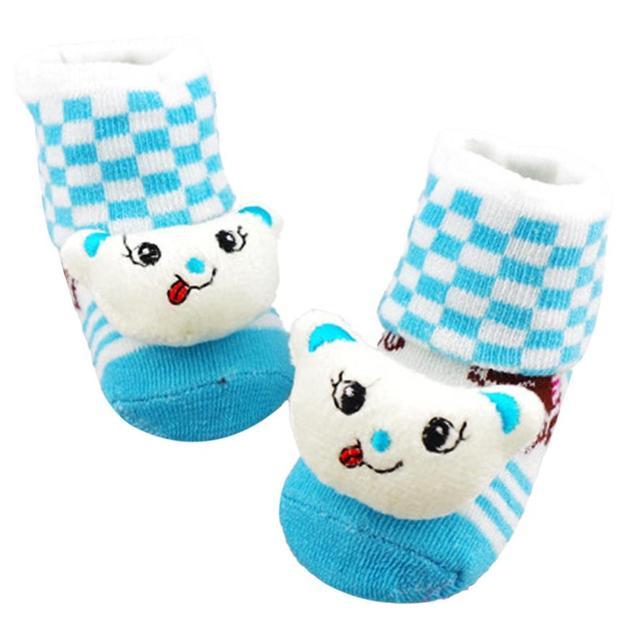 Детей носки антипробуксовочная мультфильм симпатичные новорожденных зимняя одежда ...