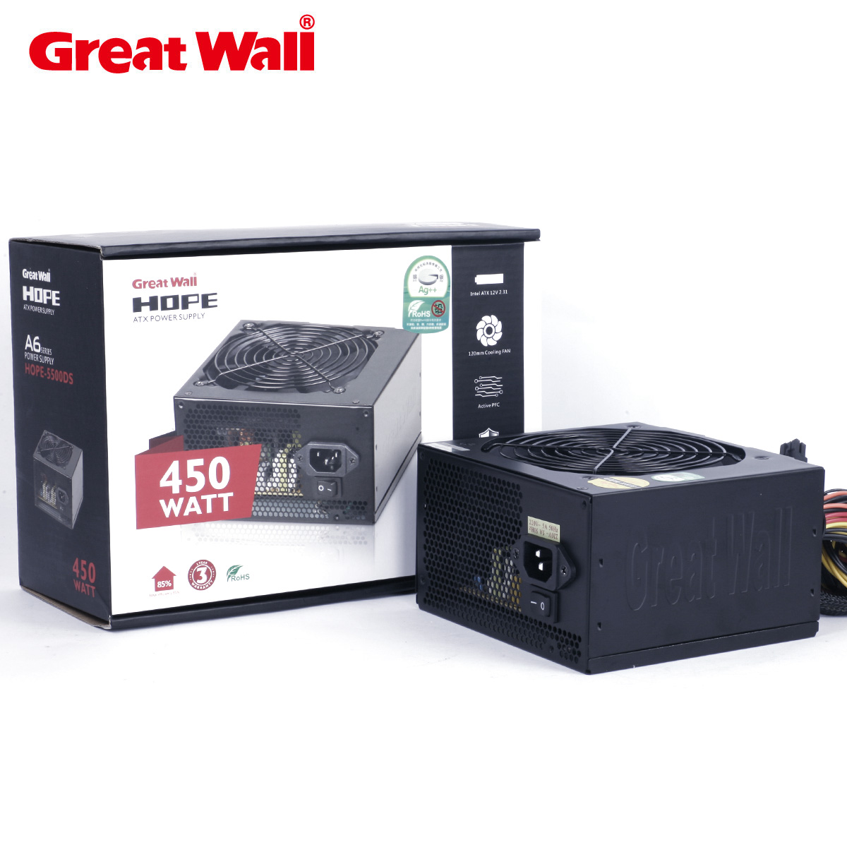 Great wall of the great wall power supply hope-5500ds 450w machine computer power supply line power supply