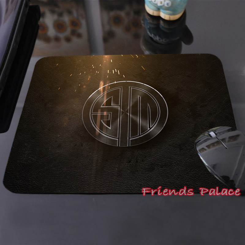 New Fashion Team SoloMid Logo Dark Customized Mouse Pad Metal and Amazing Computer Notebook Laptop Gaming Mice Mat Pad(China (Mainland))