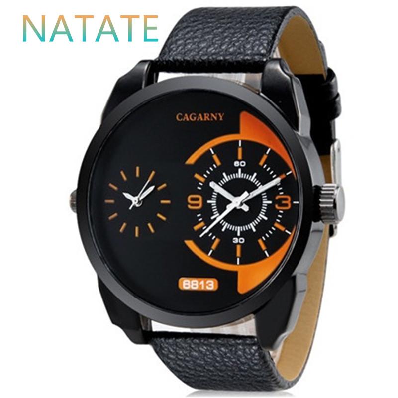 NATATE Men Fashion Watches Men Luxury Brand Leather Strap Quartz Watch Men Watch Casual Wristwatch CAGARNY Brand 0840<br><br>Aliexpress