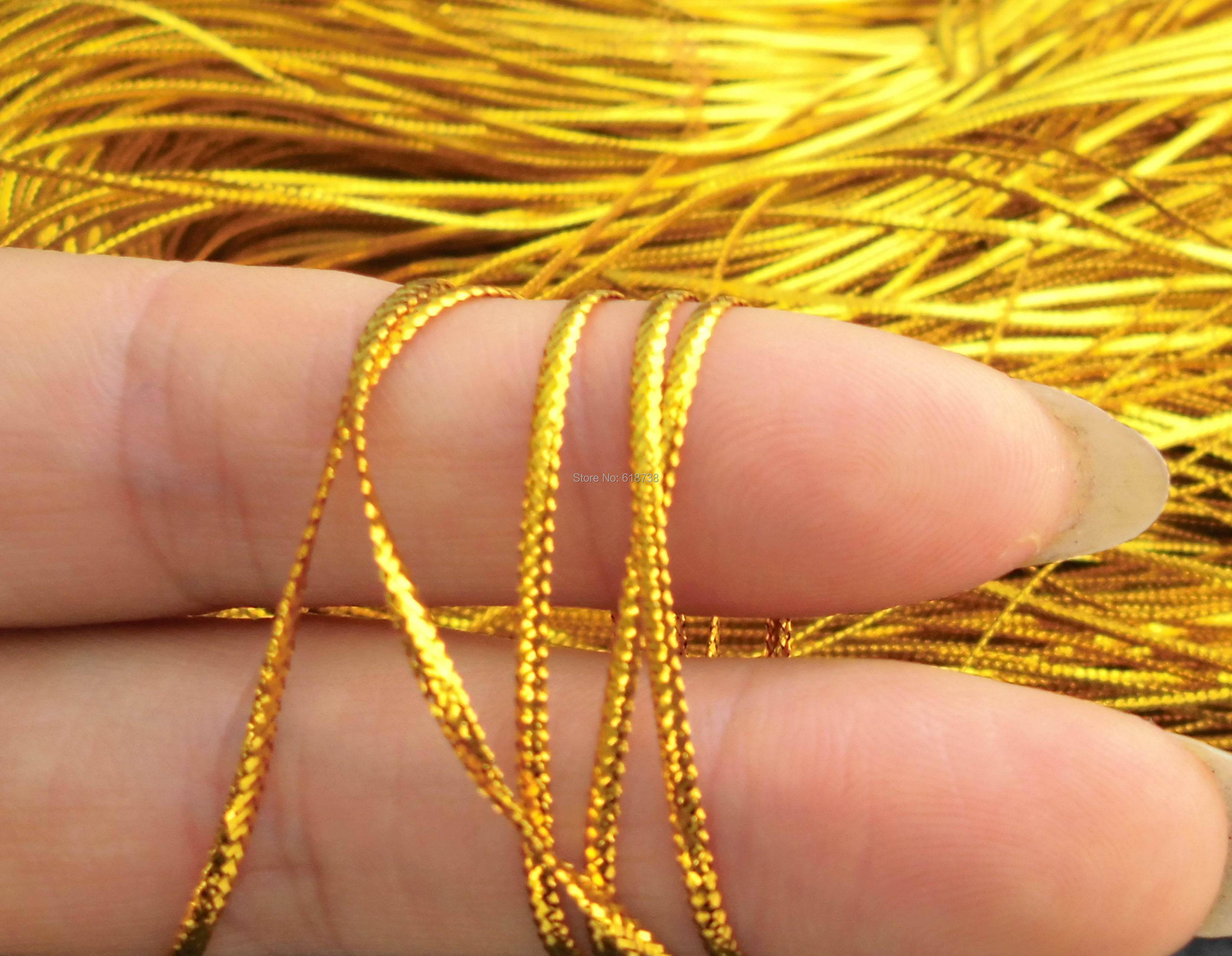 Flat wire rope tag line Invitation CARDS gold thread tying packaging decoration Inelastic tubular greeting 20m/sheaf,60m/lot(China (Mainland))