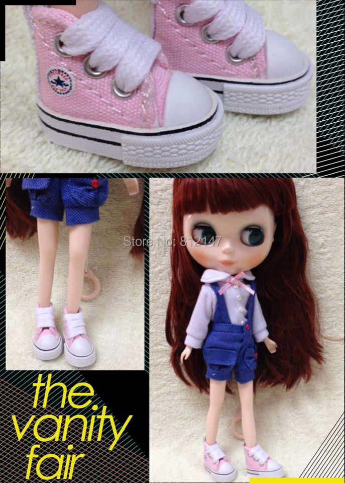 blyth Doll shoes Canvas shoes 3.5cm (suitable for blyth ,1/6 doll )(China (Mainland))