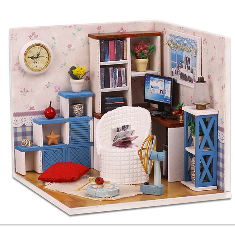 2016 Newest Warm Time Miniature Dollhouse with Furniture,Warm Time DIY Dollhouse Handmade Model Building Kit Free Shipping<br><br>Aliexpress