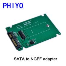 2.5 inch SATA To NGFF (M.2) ssd adapter board, SATA To NGFF (M.2) adaptor, SATA To NGFF (M.2)  riser card, phiyo(China (Mainland))