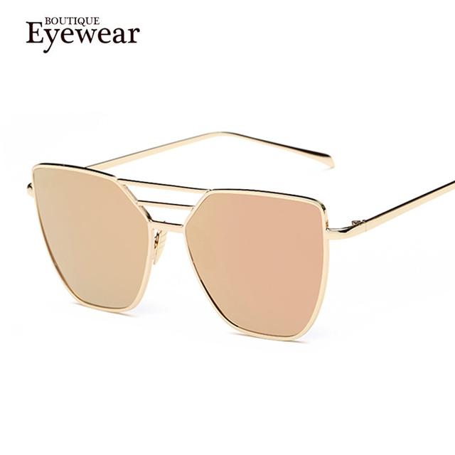 Luxury Cat Eye Sunglasses for Women Alloy Frame