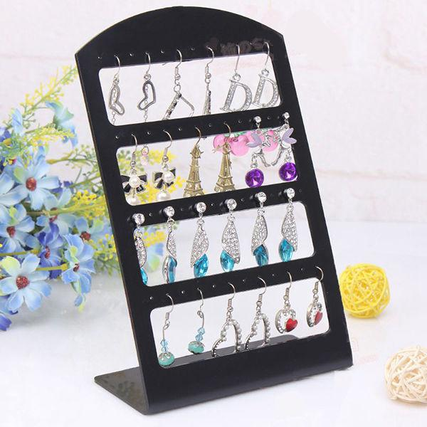 Ring Organizer Storage Watch Holder Earring Macarons Fashion Stand Necklace Packaging 48 Holes Jewelry Box Display Show Showcase(China (Mainland))