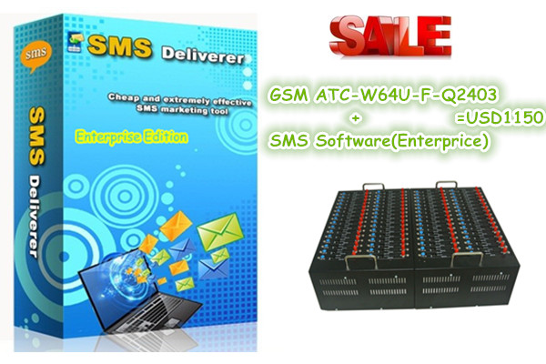 NEW bulk sms server software Q2403 64 ports wavecom modem pool support Recharge USSD STK(China (Mainland))