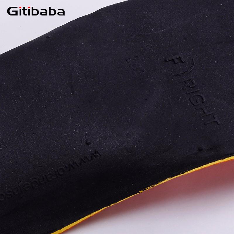 Yüksek Kaliteli 3D Prim Ortez tabanlık Düz Ayak Arch Yükseklik 3 cm derin Topuk Kupası Erkekler ve Kadınlar için Ayakkabı arch destek tabanlık