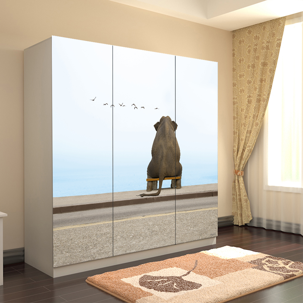 Popular closet door murals buy cheap closet door murals for Door mural wallpaper