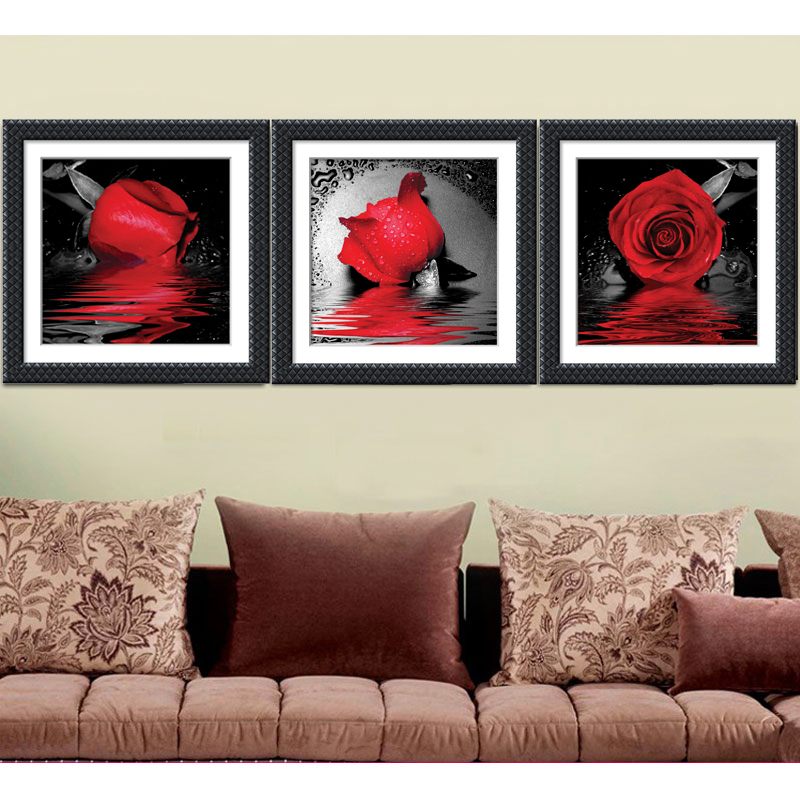 new drop of roses diamond painting living room decor 5d