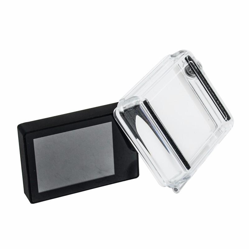 ถูก Gopro LCD B Ac P Acหน้าจอแสดงผล+จอแอลซีดีรุ่นกันน้ำป้องกันกรณีที่อยู่อาศัยB Ac P AcลับๆปกสำหรับG Oproฮีโร่3 3 + 4