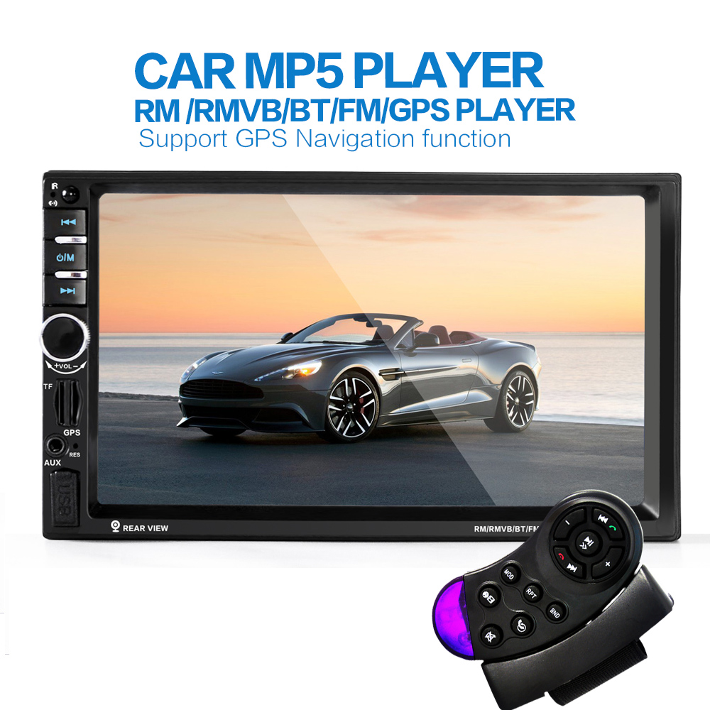 2din New universal Car Radio Double 2 din Car MP5 Player GPS Navigation In dash Car PC Stereo video Free Map Car Electronics(China (Mainland))