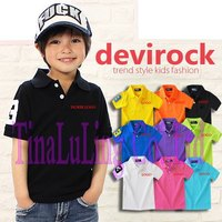 Free Shipping(5pcs/lot)100%Net Cotton boys and girls Brand t shirt kids pure color t-shirts comes with Horse Logo Sport t-shirts